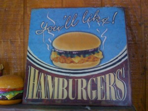 Lankford's Grocery Burger Sign