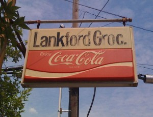 Lankford's Grocery Sign
